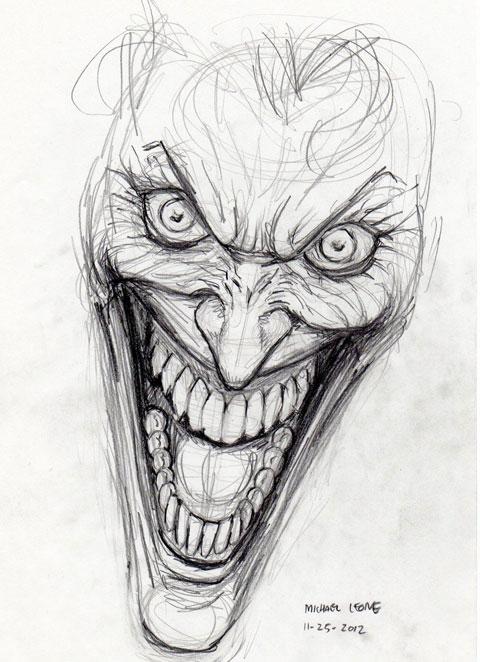 Джокер - эскиз для татуировки