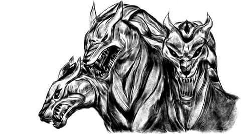 Цербер - эскиз для татуировки