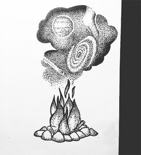 Эскиз для тату в стиле дотворк