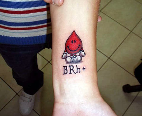 Тату группа крови