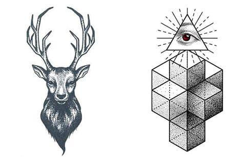 Эскизы для тату в стиле дотворк