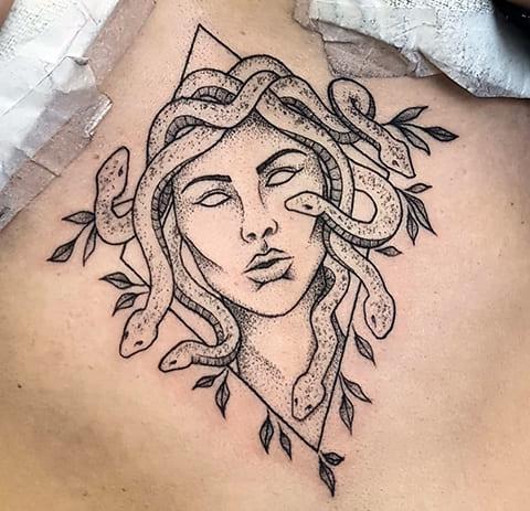 Татуировка Медуза Горгона