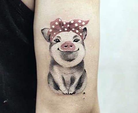 Тату свинья