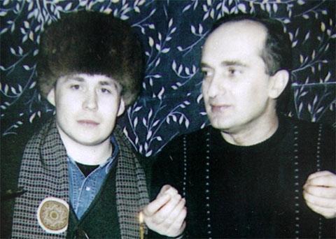 Слева воры в законе: Александр Бабанов (Саня Бабан) и  Давид Чхиквишвили (Дато Сургутский)