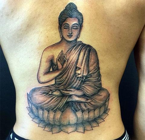 Татуировка в стиле буддизма