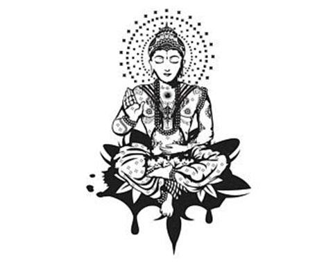 Эскиз для буддистской татуировки