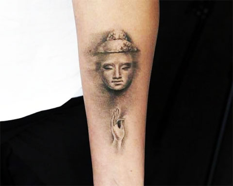 Тату Будда на руке