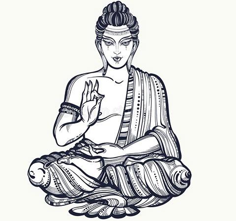Эскиз для тату буддизм