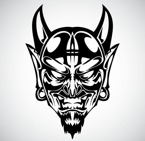 Эскиз с демоном для тату