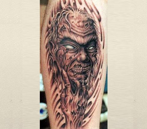 Татуировка с демоном