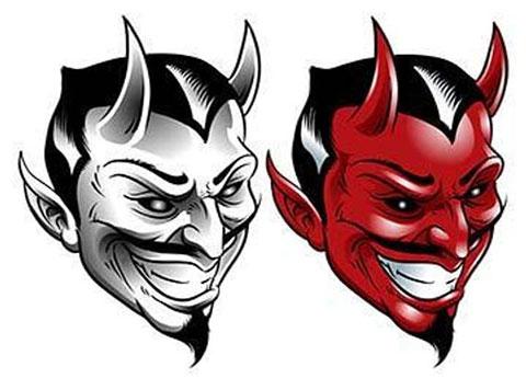 Эскизы дьявола для тату