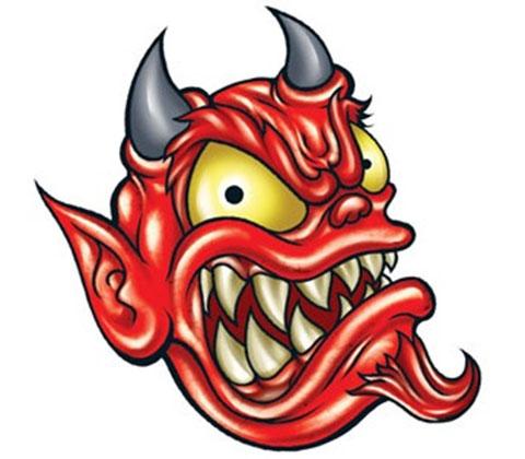Дьявол - эскиз для татуировки