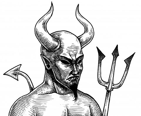 Эскиз дьявола для татуировки