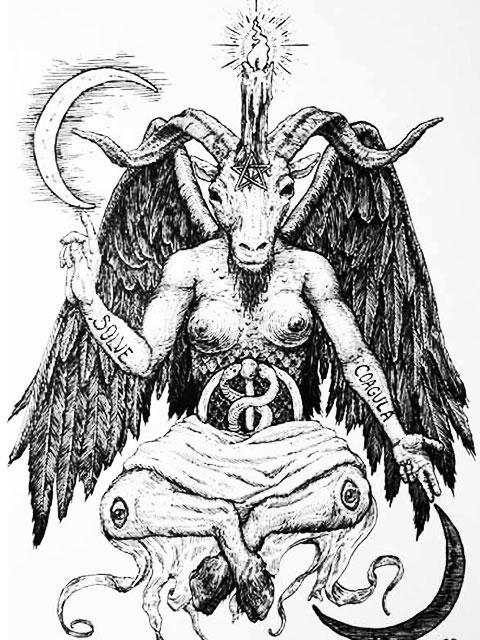 Эскиз дьявольской татуировки