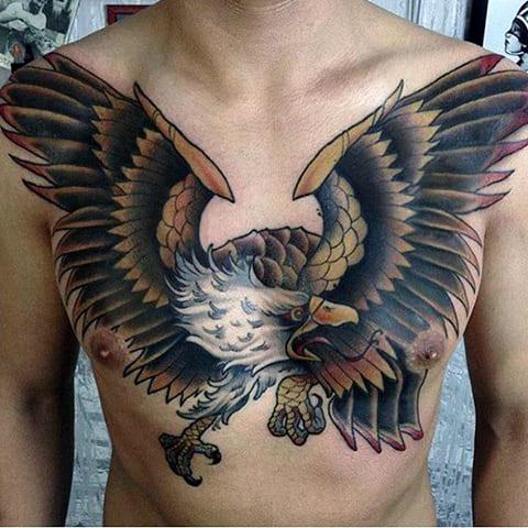 Татуировка орла на грудине