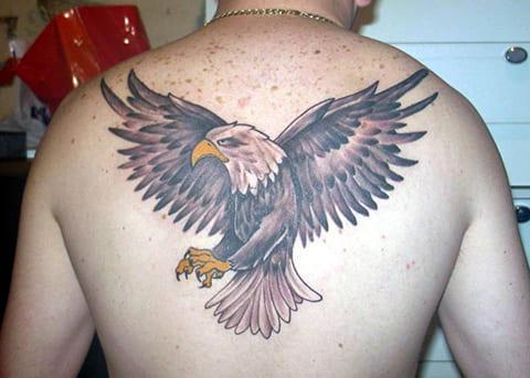 Татуировка орла для мужчин на спине