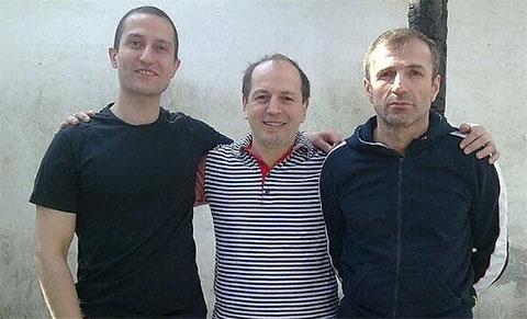 Слева воры в законе: Элгуджа Туркадзе (Гуджа), Нугзар Торчинава (Торчик) и Зиявутдин Абдулхаликов (Зява)