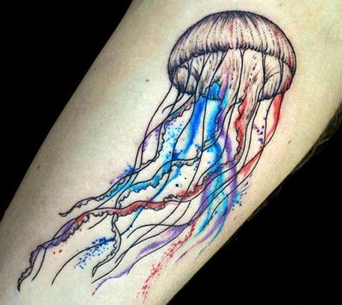 Татуировка медуза