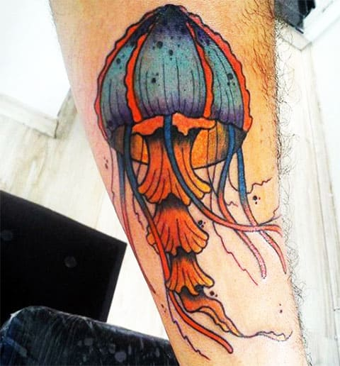 Тату медуза