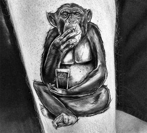Тату обезьяна