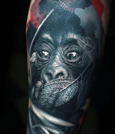 Татуировка с гориллой