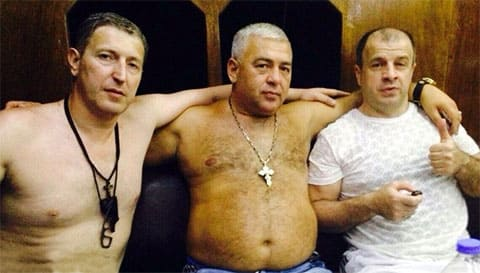 Слева воры в законе: Заур Сухумский, Вова Пухлый и Муса Ингуш