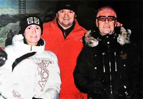 Справа: Президент РФ Дмитрий Медведев, Евгений и Снежана Кудрявцевы
