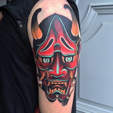 Татуировка ориентал на руке
