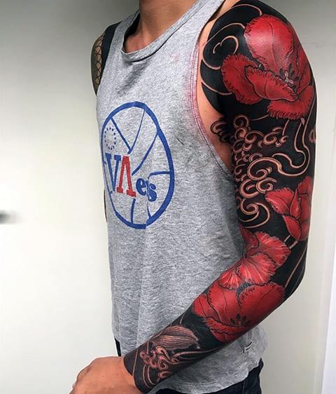 Татуировка ориентал на руке фото