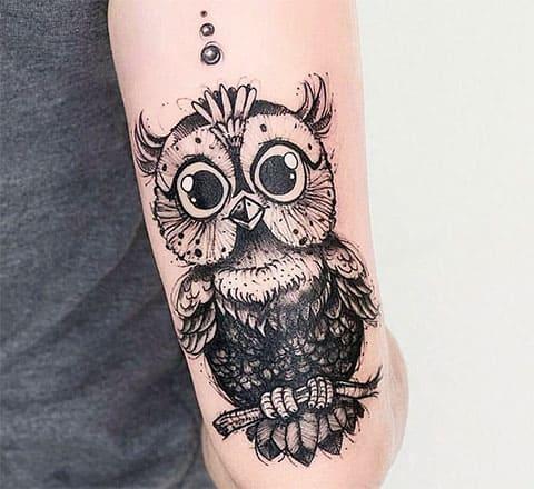 Татуировка с совой