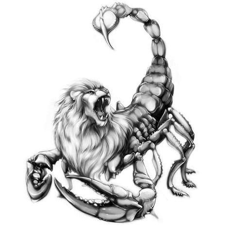 Эскиз в виде скорпиона для тату