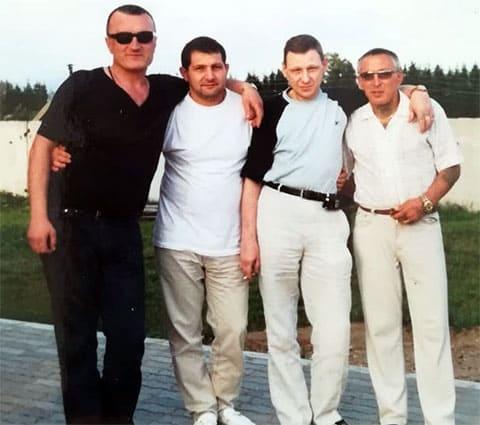 Слева воры в законе: Георгий Углава (Тахи), Константин Найбауэр (Костя Канский), Сергей Волков (Волчок) и Александр Северов (Север)