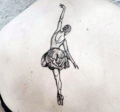 Татуировка балерина