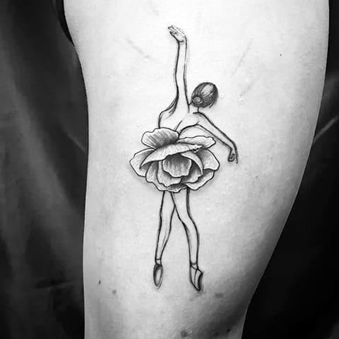 Тату балерина