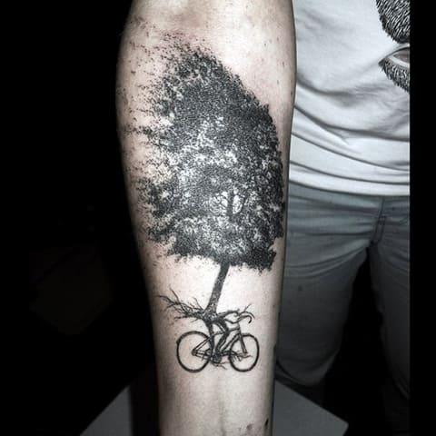 Татуировка дотворк на предплечье для мужчин