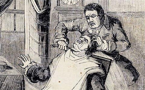 Художник воссоздал момент убийства клиента Суини Тоддом