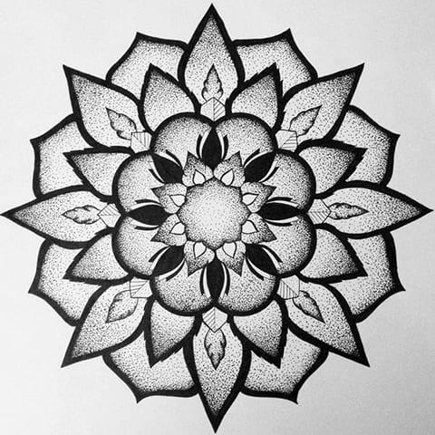 Мандала - эскиз для татуировки