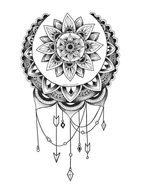 Эскиз мандалы для татуировки
