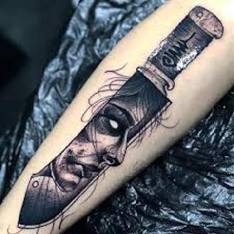 Блэкворк татуировка