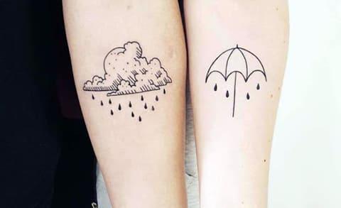 Тату дождевое облако