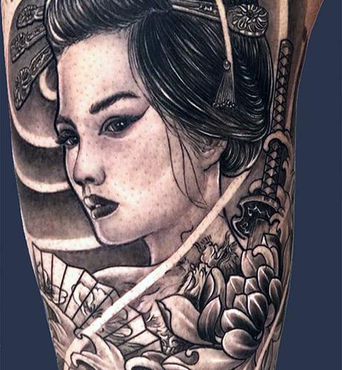 Татуировка гейши