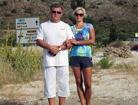 Михаил Коряк с супругой Натальей Поздновой