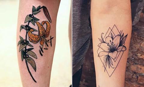 Татуировки с лилией