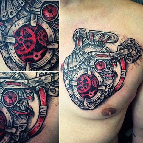 Татуировки в стиле стимпанк - фото