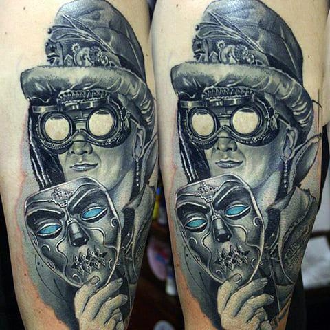 Татуировка стимпанк