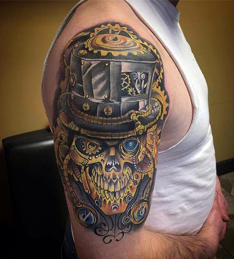 Стимпанк татуировка