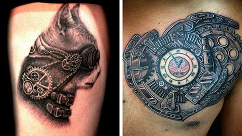 Татуировки в стиле стимпанк