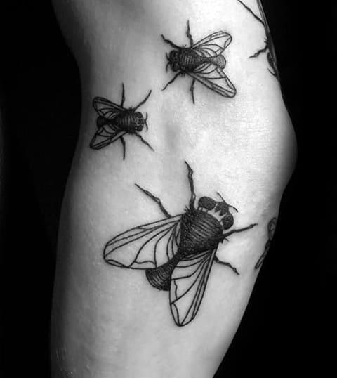 Тату с мухами