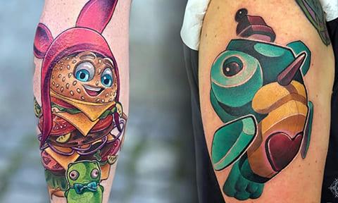 Татуировки нью скул