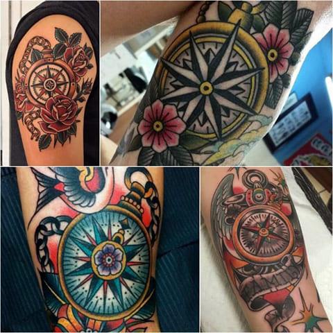 Татуировки олд скул